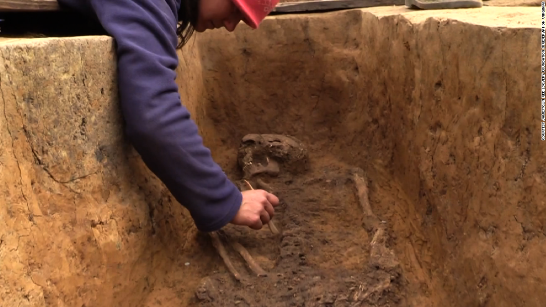 Skeletons of early elite settlers found at historic Jamestown site