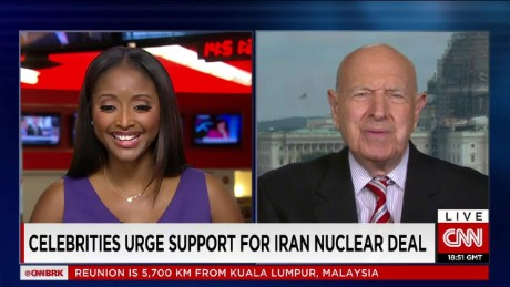 Celebrities urge support for Iran nuclear deal