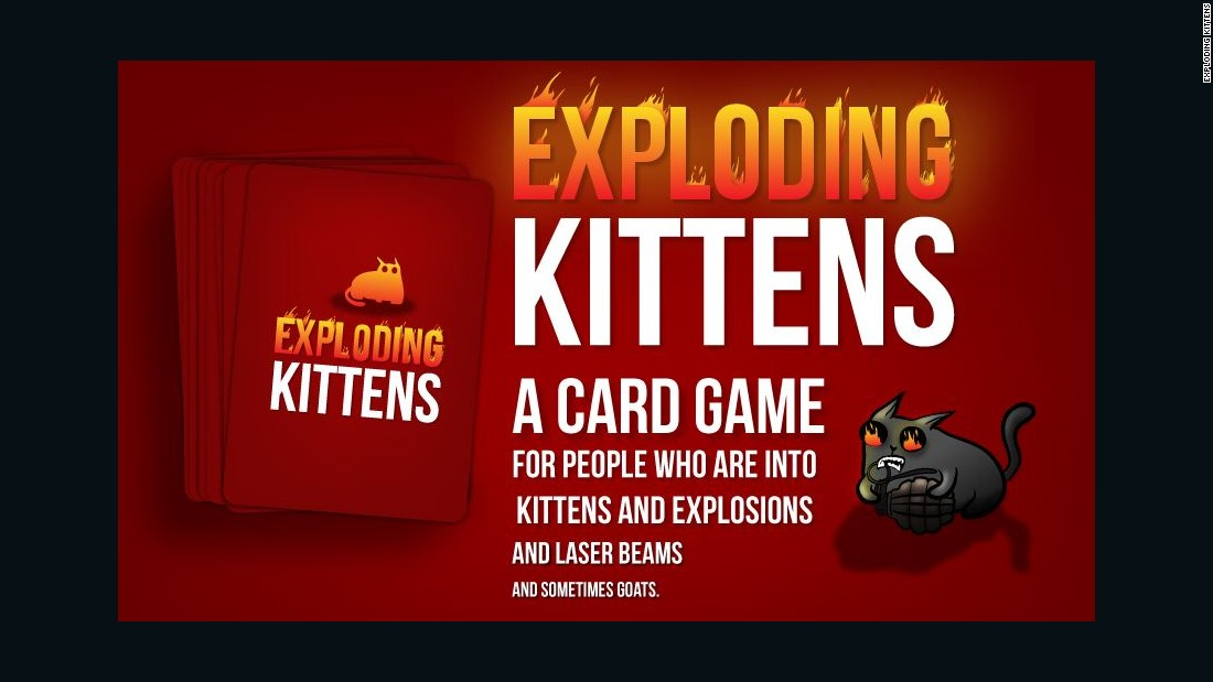 Exploding Kittens is the most backed crowd-funding campaign in history, with over 200,000 backers.