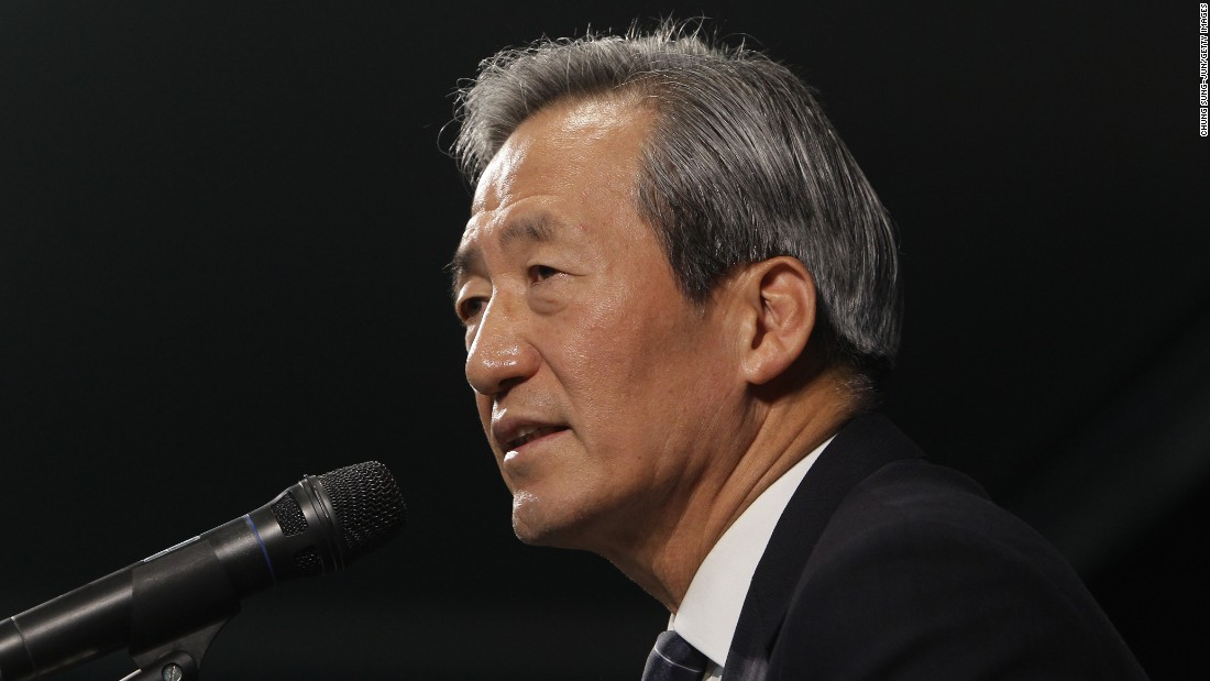 South Korean billionaire and former FIFA vice president Chung announces his intention to run for the top job in world soccer.