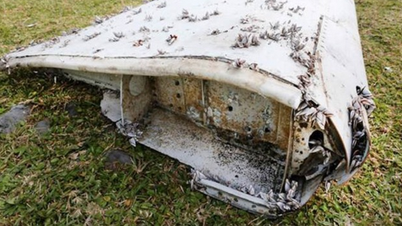 MH370's flaperon was found in eastern Africa.