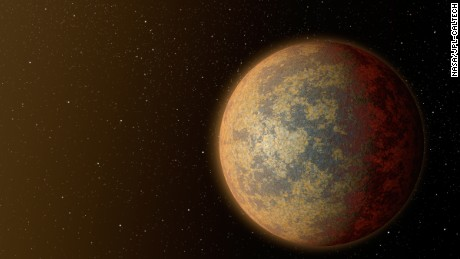 This is an artist's concept of how planet HD 219134b might look.