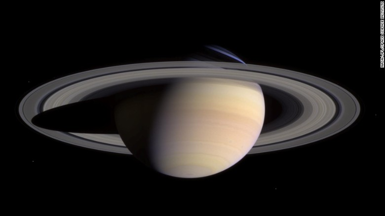 """The <a href=""""http://saturn.jpl.nasa.gov/mission/quickfacts/"""" target=""""_blank"""">Cassini spacecraft</a> ended its mission in 2017. The probe was launched on October 15, 1997, from Cape Canaveral Air Force Station in Florida. It arrived at Saturn on June 30, 2004. The spacecraft dropped a<a href=""""https://www.nasa.gov/content/ten-years-ago-huygens-probe-lands-on-surface-of-titan"""" target=""""_blank""""> probe called Huygens</a> to the surface of Saturn's moon Titan. It was the first landing on a moon in the outer solar system."""