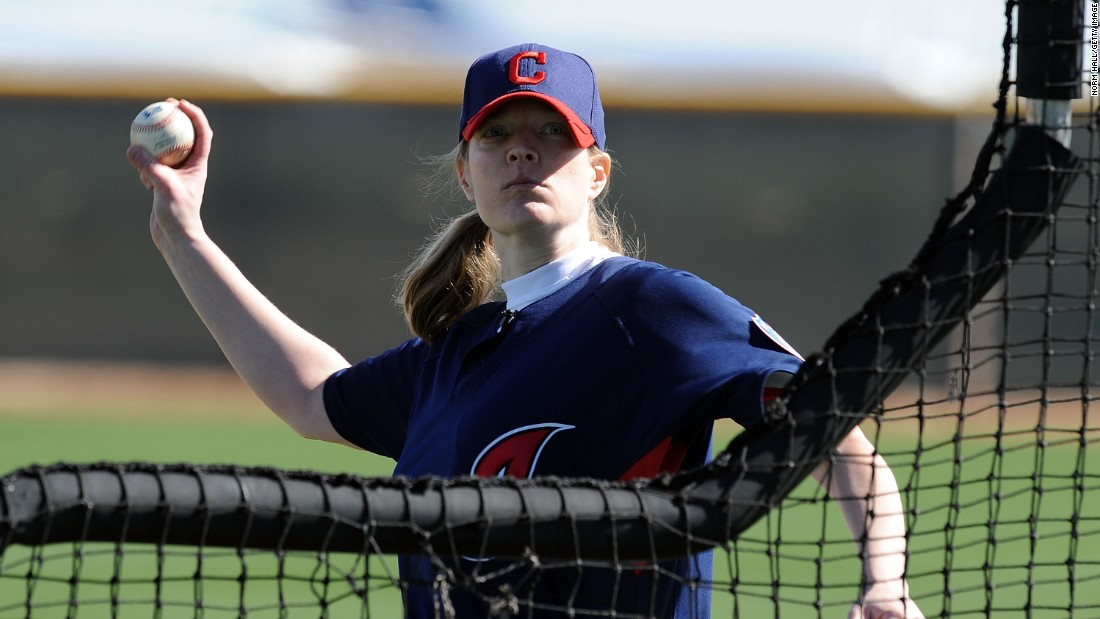 Justine Siegal -- seen throwing batting practice with the Cleveland Indians -- made history by coaching as an assistant at Springfield College and as a first base coach in the CanAm League with the Brockton Rox.  Siegal stresses that having the full support of management is the key to success for women starting out in men's leagues.