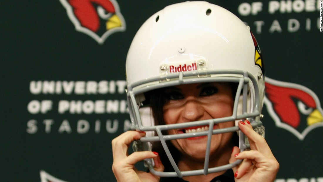 Jen Welter has been named an intern coach with the NFL's Arizona Cardinals. Welter, who will work with the inside linebackers through training camp and the preseason, is the first female to hold a coaching position of any kind in the NFL.