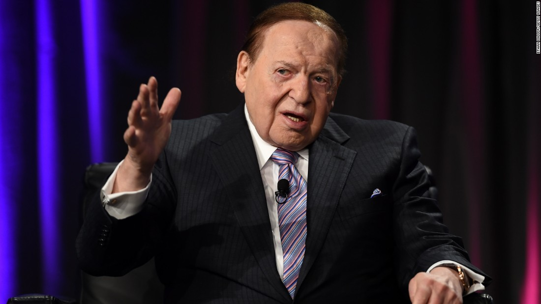 "Casino magnate Sheldon Adelson, the GOP's top giver in 2012, has not given any money to Republican candidates' allied groups for the 2016 election. <br /><br />According to <a href=""http://www.opensecrets.org/outsidespending/summ.php?cycle=2012&disp=D&type=V&superonly=S"" target=""_blank"">OpenSecrets</a>, he spent almost $92 million on conservatives in the 2012 election."