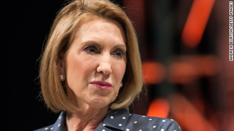Republican presidential hopeful Carly Fiorina speaks at TechCrunch's Disrupt conference on May 5, 2015 in New York City.