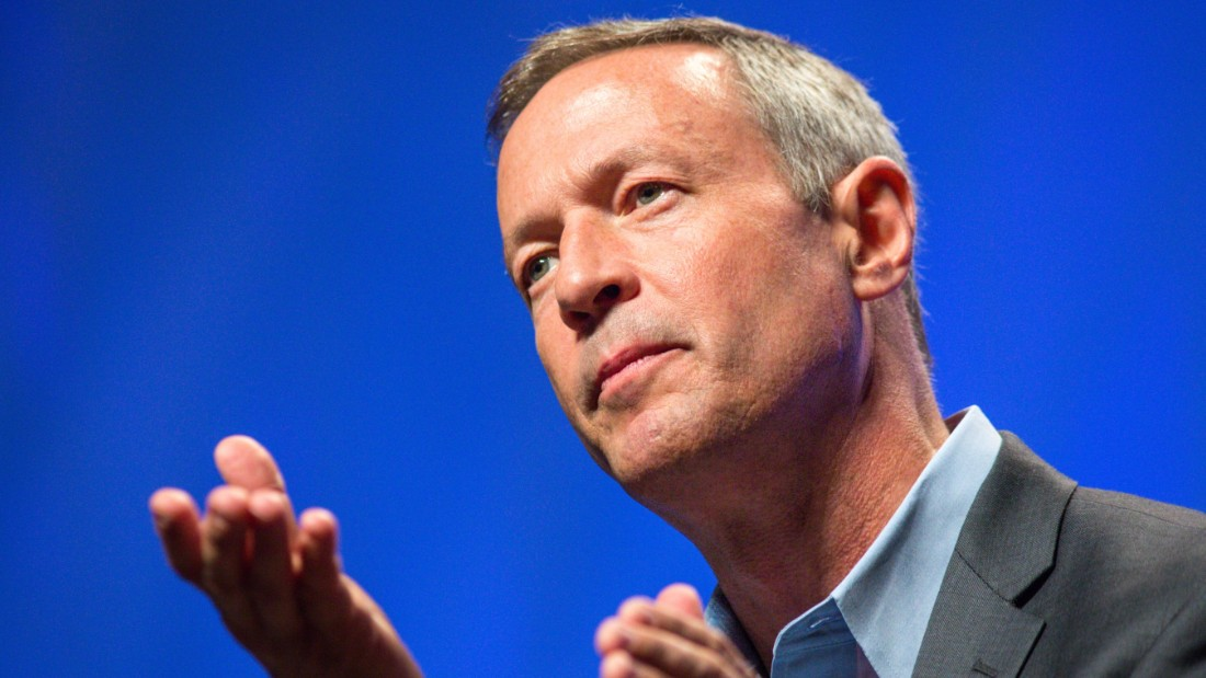 Former Gov. Martin O'Malley speaks to around 2,000 audience members at the Netroots Nation 2015 Presidential Town Hall at the Phoenix Convention Center July 18, 2015 in Phoenix.