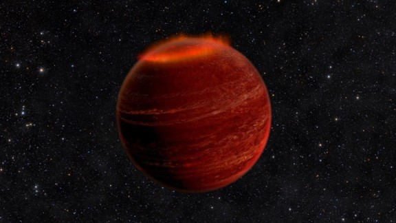Astronomers have discovered powerful auroras on a brown dwarf that is 20 light-years away. This is an artist