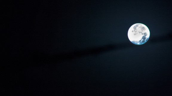 Palermo resident Gabriele Ruggieri was up at 3 a.m. to get this shot of the moon.