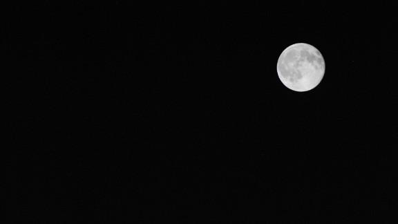 Miranda Royal saw the moon on Friday night in Richmond, Texas.