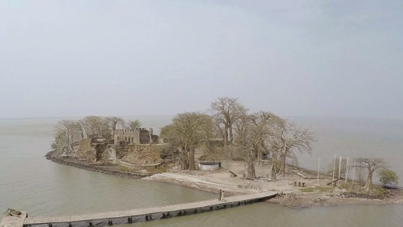 Once known as James Island, Kunta Kinte Island was a holding ground for captured slaves before they were shipped to America. The island is named for its most famous slave, who was later immortalized in the book (and then mini-series) Roots.