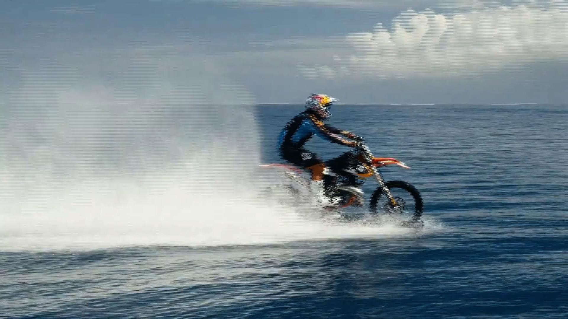 380ab91a19936 Motocross star surfs big waves on his bike - CNN Video