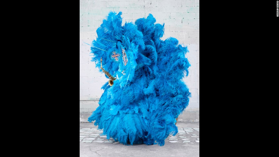 Mardi Gras Indians are African-American revelers who wear costumes inspired by Native American ceremonial dress. Photographer Charles Freger took portraits of them and their elaborate costumes last year.