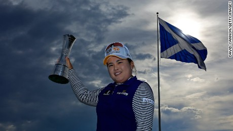 Inbee Park clinched the 2015 award for women's major performances with her first British Open title.