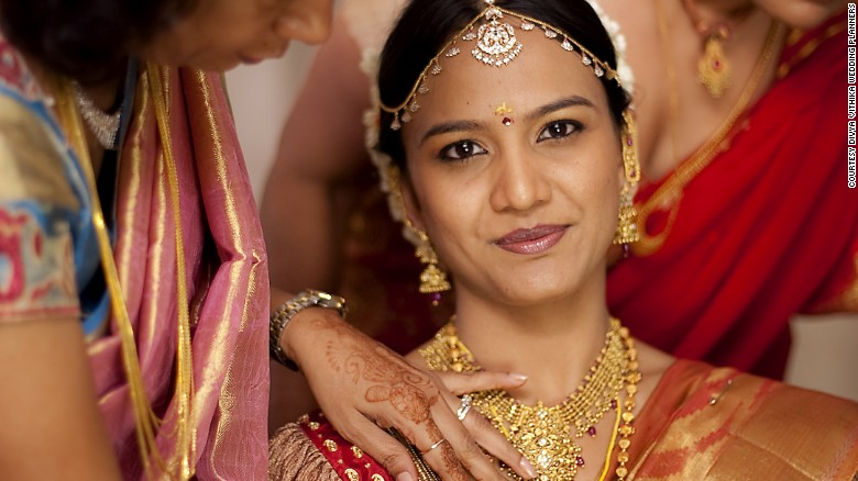 What does every Indian wedding need Gold and lots of it CNN