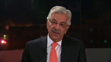 Pakistan Defense Minister Khawaja Asif, speaking to CNN in 2015.