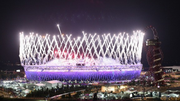 The opening ceremony set the tone for a Games which captivated the British public. Film director Danny Boyle orchestrated the spectacular display, which included the Queen skydiving with James Bond and David Beckham cruising down the Thames. Bonkers, and British.
