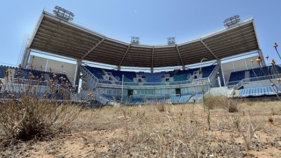 The deterioration of the softball stadium for the Athens 2004 Games reflects the problems some countries encounter when trying to establish a lasting Olympic legacy. This picture was taken in July 2014.