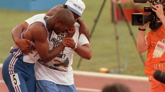 Derek Redmond broke down in tears during the semifinals of the men