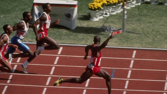 Ben Johnson stunned the world by taking 100m gold in a record time in South Korea, but the Canadian left the Olympic movement in turmoil when he later tested positive for a banned substance.