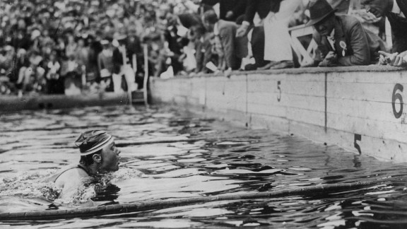 The Dutch capital was host after failing with bids to stage the 1920 and 1924 events. Hildegard Schrader of Germany won the women's 200-meter breaststroke event.