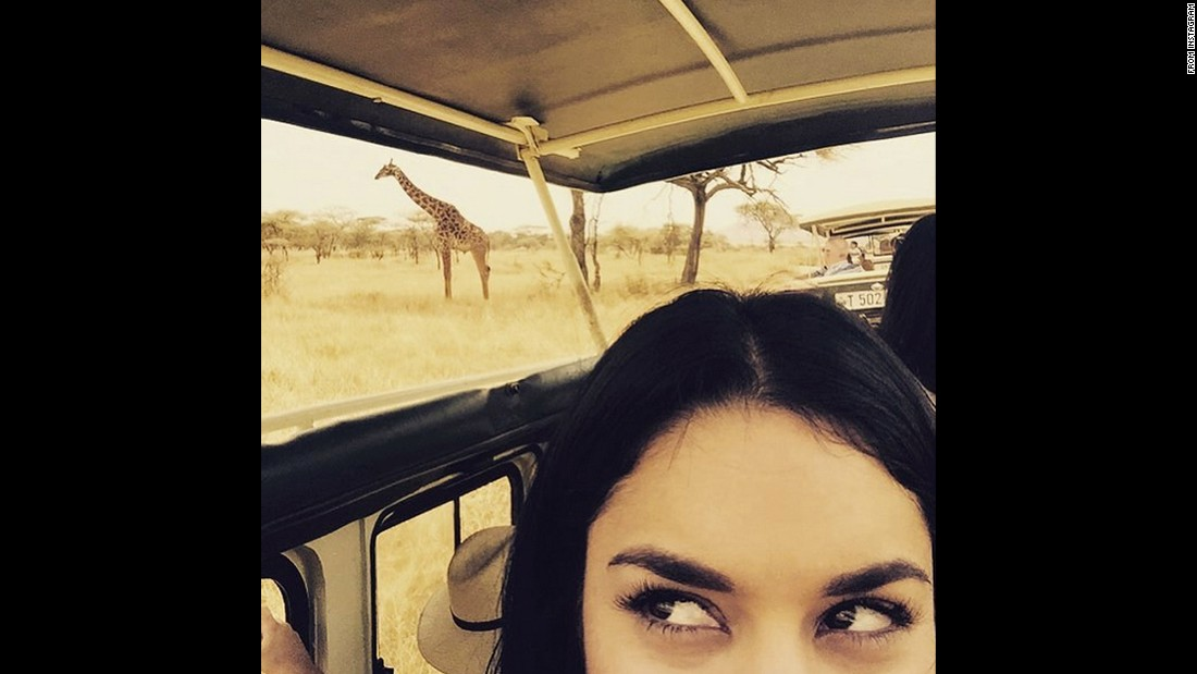 """I can't believe I made it to Africa. Let the adventure begin,"" <a href=""https://instagram.com/p/5zuTKOzCoG/"" target=""_blank"">actress Vanessa Hudgens said on Instagram</a> on Friday, July 31."