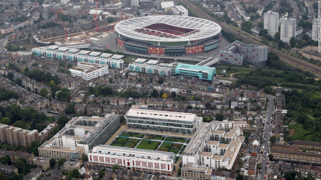 Arsenal left Highbury, their home of 93 years which has now been turned into housing, in 2006 to move to the Emirates, which can seat 60,432 (in contrast to Highbury's 38,419)