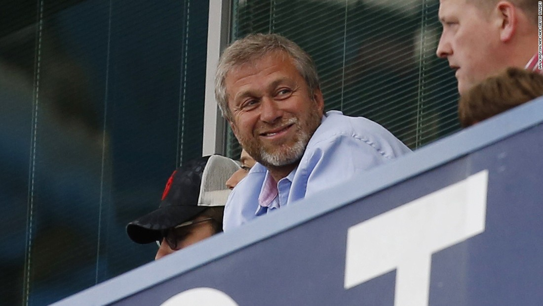 Usmanov's estimated fortune of $14.4 billion is almost double that of Chelsea owner, and fellow Russian, Roman Abramovich, whose assets amount to $8.2 billion.
