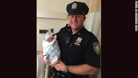 Port Authority police officer Brian McGraw helped deliver the first baby born at the World Trade Center since September 11, 2001, according to Port Authority officials.