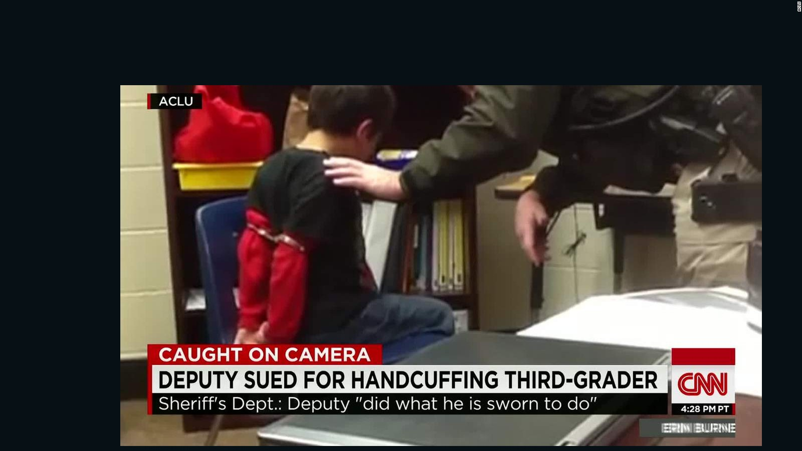 Handcuffing Little Kids May Not Be >> Aclu Deputy Sued For Handcuffing Disabled Children Cnn