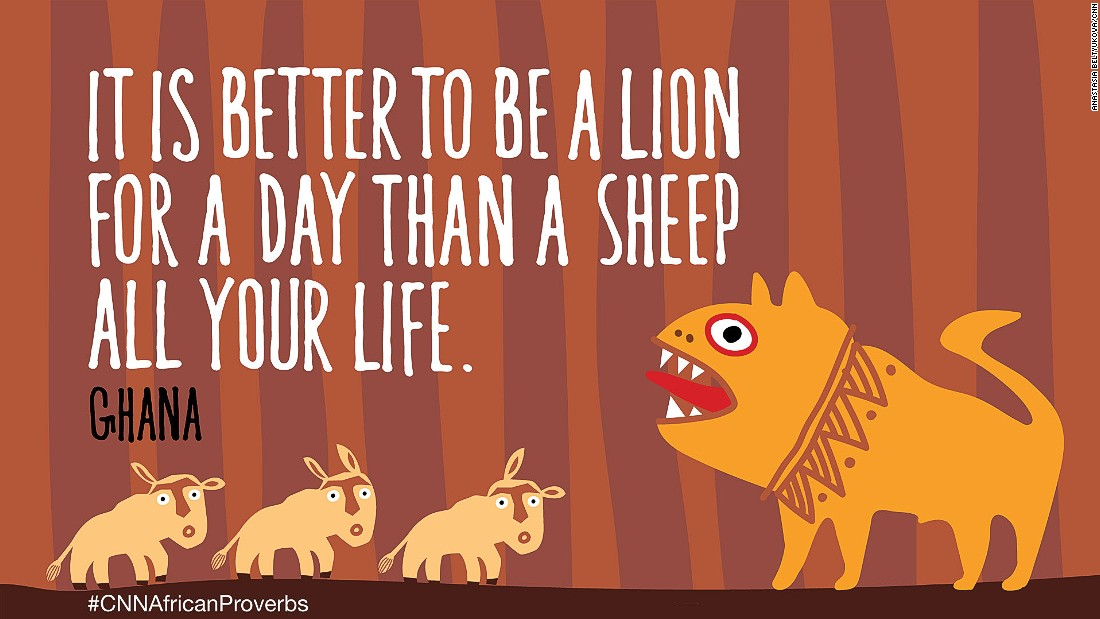 African proverbs 5 sheep