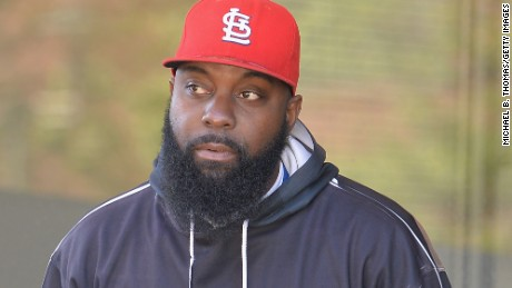 Michael Brown Sr. has not cut his beard since the day his son died in Ferguson, August 9, 2014. This is a photograph from late April. Recently, he said he would cut it when he sees signs of justice.