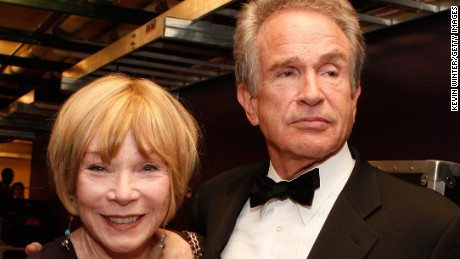 HOLLYWOOD - JUNE 12, 2008: Actors Shirley MacLaine and Warren Beatty during the 36th AFI Life Achievement Award tribute to Warren Beatty held at the Kodak Theatre in Hollywood, California. (Photo by Kevin Winter/Getty Images for AFI)