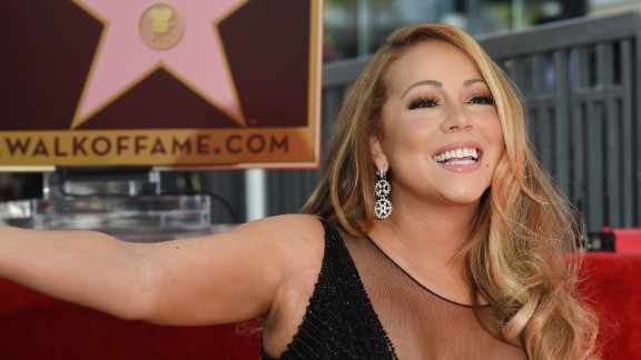 Mariah Carey is honored with the 2,556th star on the Hollywood Walk of Fame on Wednesday, August 5.