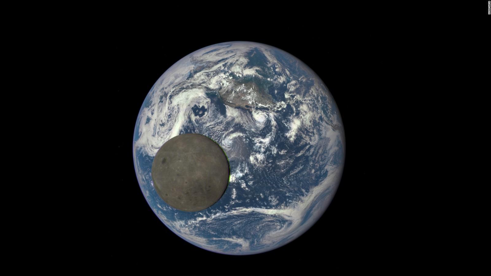 NASA Camera Shows Moon Crossing Earth