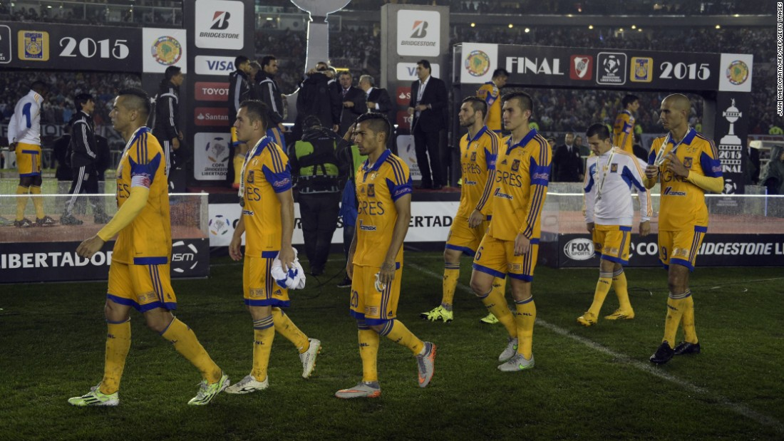 Tigres players were left disappointed after becoming the third Mexican team to reach the final of South America's most prestigious club competition and come away empty-handed.