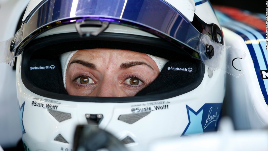 Britain's Susie Wolff is the leading female driver in Formula One in recent generations. In 2014, she became the first woman to take part in an F1 weekend for more than 20 years, driving a Williams car in a Friday practice session.