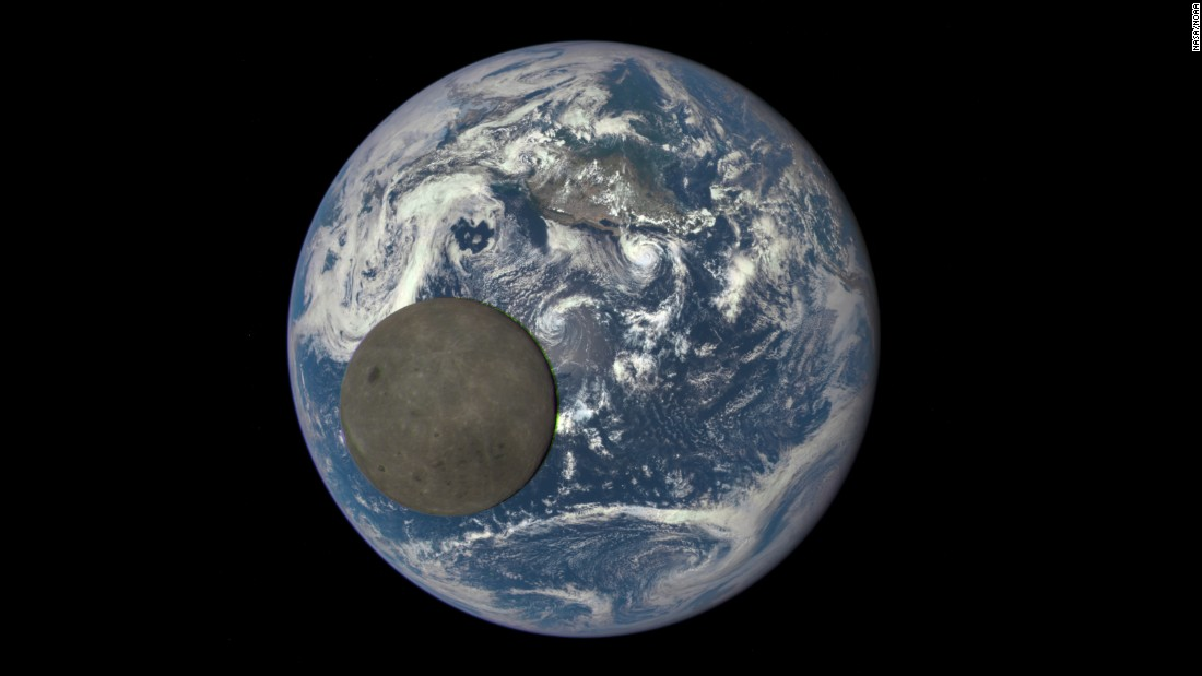 "The ""dark side of the moon"" -- the side of the moon not visible from Earth -- can be seen in this image that was taken by a NASA camera on the Deep Space Climate Observatory satellite. <a href=""http://www.cnn.com/2015/08/07/world/gallery/week-in-photos-0807/index.html"" target=""_blank"">See more amazing images from ""The week in 37 photos.""</a>"
