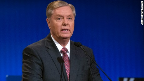 "Sen. Lindsey Graham said Monday that Hillary Clinton would beat Donald Trump ""like a drum"" in a general election match-up."