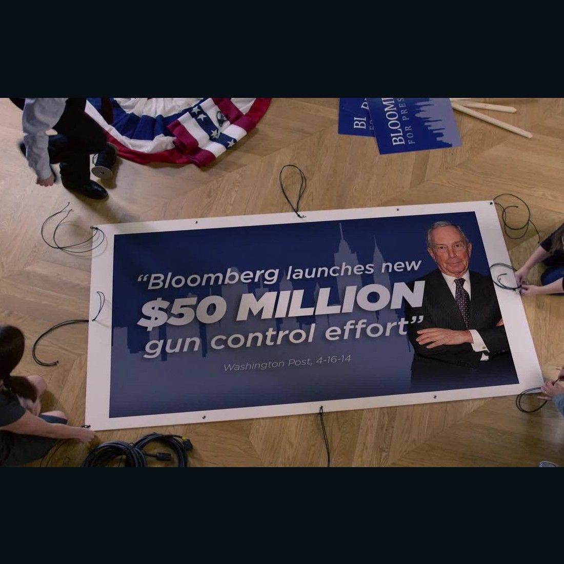 NRA ad targets Bloomberg The National Rifle Association launched a