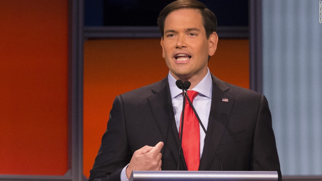 "The 43-year-old freshman senator of Florida <a href=""http://www.cnn.com/interactive/2015/05/politics/2016-election-candidates/#Rubio"">Marco Rubio</a> is the youngest contender in the race for the presidency. Rubio entered the political realm as an intern to U.S. Rep. Ileana Ros-Lehtinen of Florida in 1991, while he was attending law school. <br /><br />On immigration, he said that the evidence is clear the majority of the people coming across border are not from Mexico."