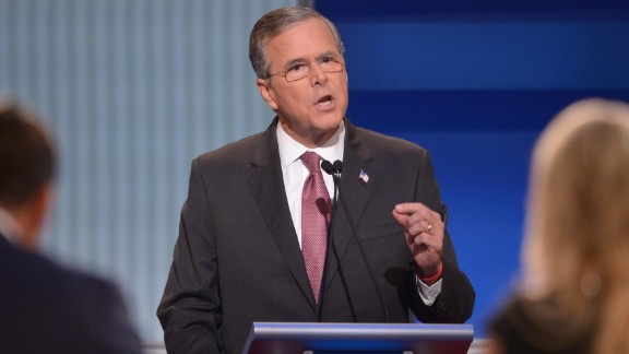 "Former Florida Gov. Jeb Bush is son to former president George H.W. Bush and brother to former president George W. Bush. He has been trailing in second place behind Trump in the polls. Bush has been involved in politics since the early 1980s.  Bush addressed the immigration issue by stressing that he did not support ""amnesty.""  ""We need to be much more strategic on how we deal with border enforcement, border security,"" Bush said. ""We need to eliminate the sanctuary cities in this country. It is ridiculous and tragic that people are dying because of the fact that local governments are not following the law."""