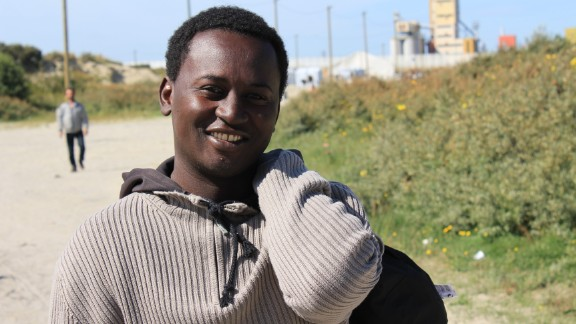"""Mohammed is from Sudan. """"Life is very hard in Sudan,"""" he says. """"I want to go to England to get a good education. There is very good education in England and I already speak English."""""""