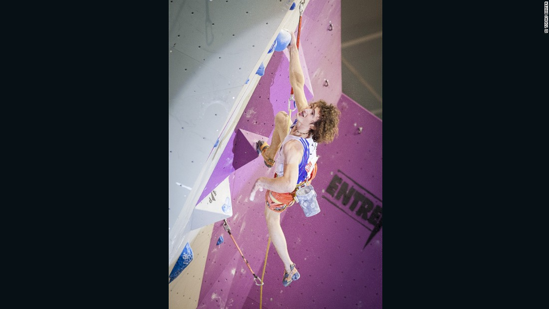 Ondra also competes in competition  climbing. He is currently the reigning world champion in both Lead and Bouldering -- a feat no other climber has achieved.