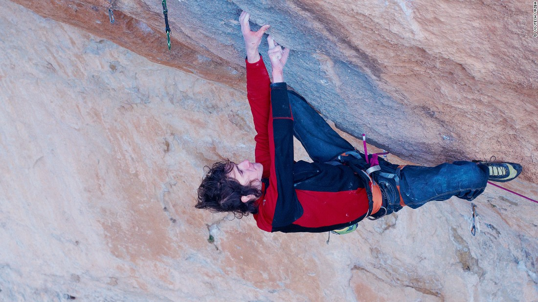 """The other discipline is bouldering,"" says Ondra. ""You don't use any ropes, you only use crash mats as a protection and you only climb up to maybe five or six meters of height."""