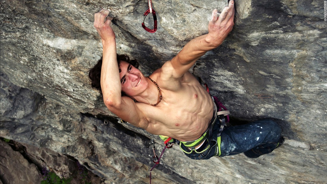 "Ondra scaling ""Purgatory"" in Hell, Norway -- a 9a rated climb. Grades relate to the overall technical difficulty of a climb and the effort required to complete it. The U.S. has a  similar grading system -- this 9a climb would be rated a 5.14d."