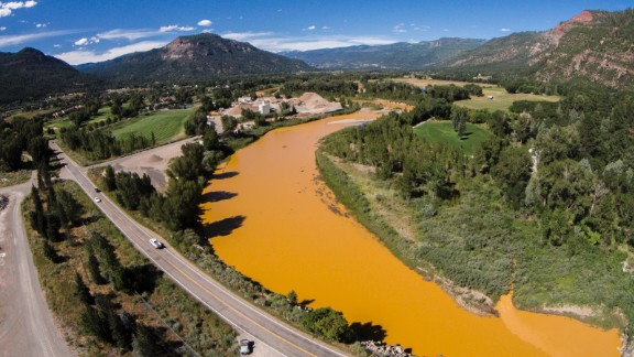 Durango resident Ian Lucier shot several photos of the river with his drone.