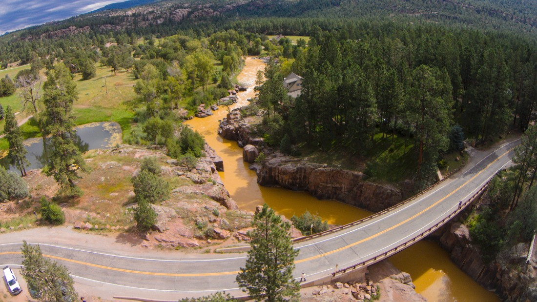 Contaminated water accidentally released by the EPA turned a stretch of the Animas River orange.