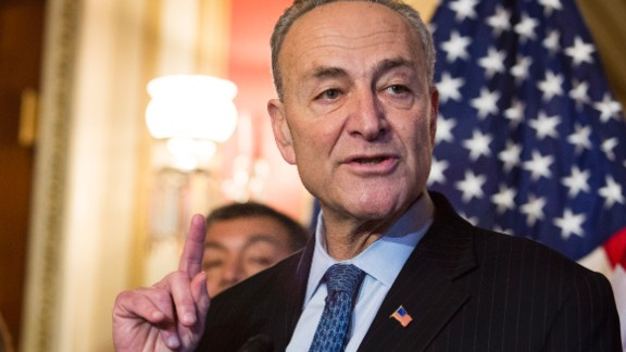 Sen. Charles Schumer (D-NY) speaks during a news conference to discuss US President Barack Obama's executive order on immigration, on Capitol Hill, December 10, 2014, in Washington, DC